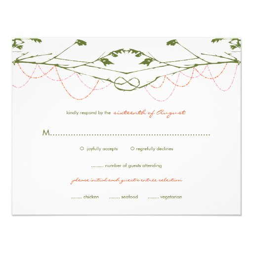 fatfatin Knotted Love Trees 03 Wedding RSVP Card Invites