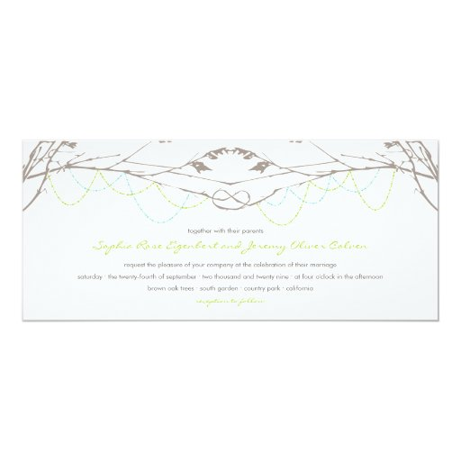 fatfatin Knotted Love Trees 04 Wedding Invitation