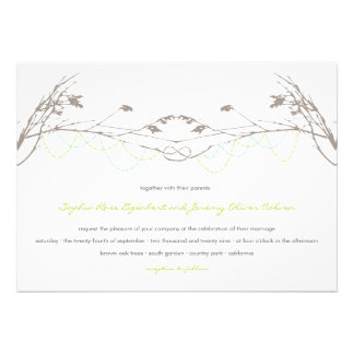 fatfatin Knotted Love Trees 04 Wedding Invitation Personalized Invite