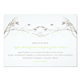"fatfatin Knotted Love Trees 04 Wedding Invitation 5"" X 7"" Invitation Card"