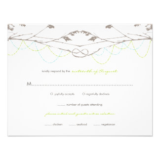 fatfatin Knotted Love Trees 04 Wedding RSVP Card Invite