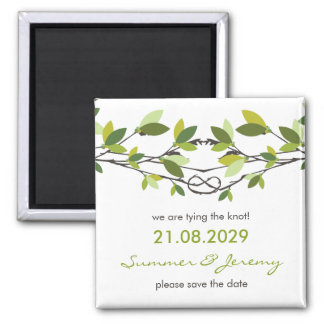 fatfatin Knotted Love Trees Save The Date Magnet