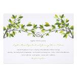 fatfatin Knotted Love Trees Wedding Invitation Custom Announcements