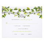 fatfatin Knotted Love Trees Wedding RSVP Card Personalized Invitations