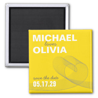 fatfatin Loopy Love Lines Save The Date Magnet