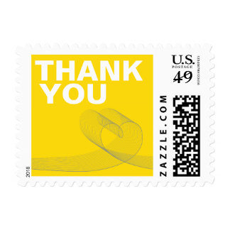 fatfatin Loopy Love Lines Yellow Thank You Stamps