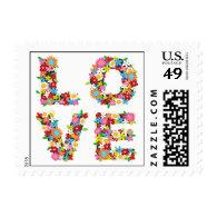 fatfatin LOVE Spring Flowers Bridal Shower Stamps Stamps