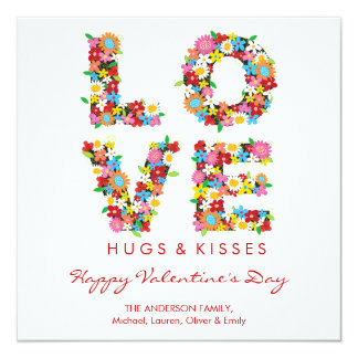fatfatin LOVE Spring Flowers Valentine Greetings Announcements