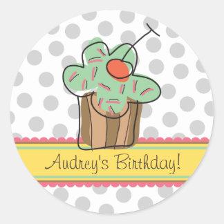fatfatin Mint Cherry Cupcakes Birthday Sticker