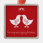 fatfatin Mistletoe Kissing Chicks Christmas Orname Christmas Tree Ornament