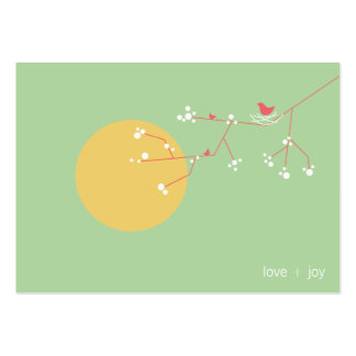 fatfatin Nesting Bird and Family 05 Profile Card Large Business Cards (Pack Of 100)