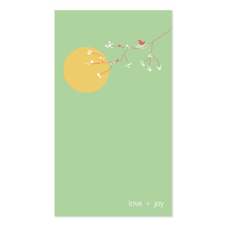 fatfatin Nesting Bird and Family 05 Profile Card Double-Sided Standard Business Cards (Pack Of 100)