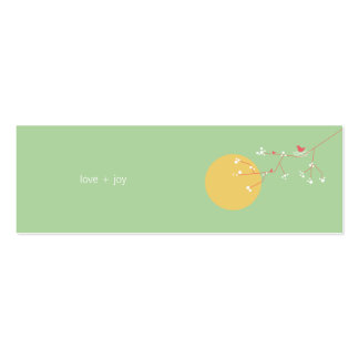 fatfatin Nesting Bird and Family 05 Profile Card Double-Sided Mini Business Cards (Pack Of 20)