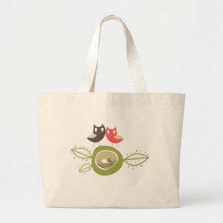 fatfatin Nesting Owl Family Custom Tote Bag