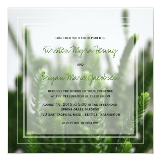 fatfatin Photo Green Grass Wedding Invite