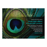fatfatin Photography Peacock Feather Wedding 5x7 Paper Invitation Card