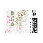 fatfatin Pink Champagne Cheers Bridal Shower Stamp