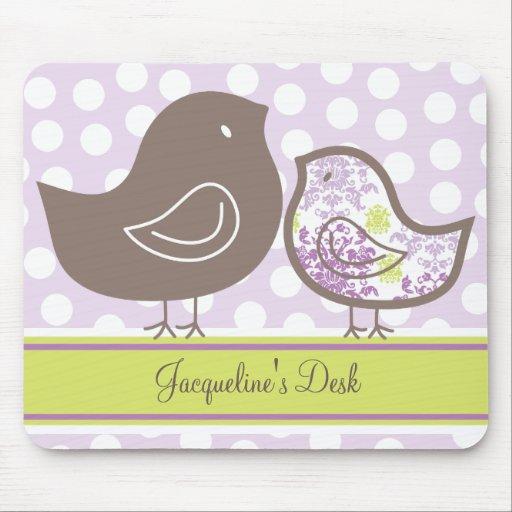 fatfatin Purple Damask Chicks Custom Mousepad