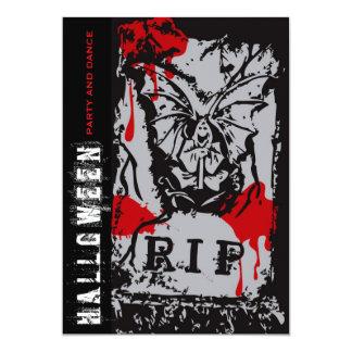 "fatfatin R.I.P. Death Halloween Party Invitation 5"" X 7"" Invitation Card"