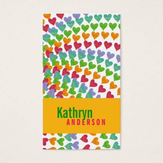 fatfatin Rainbow Heart Sprinkles Profile Card