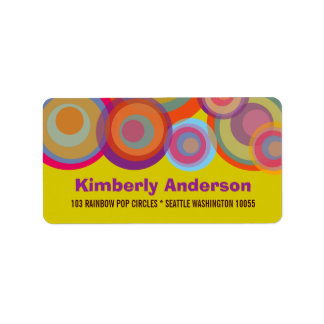 fatfatin Rainbow Pop Circles Address Labels