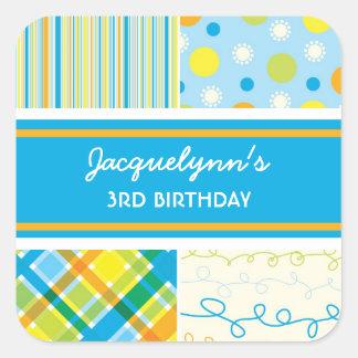 fatfatin Retro Beach Blue Combo Birthday Sticker