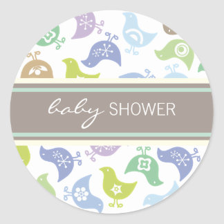 fatfatin Retro Chicks Boy Baby Shower Sticker