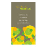 fatfatin Retro Citrus Dots Groovy Fun Profile Card Business Cards