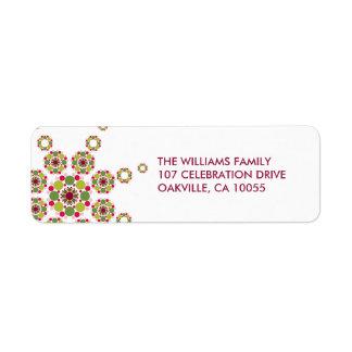 fatfatin Retro Holiday Stars Address Label