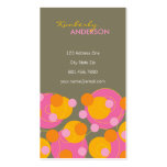 fatfatin Retro Juicy Pink Dots Groovy Profile Card Business Cards