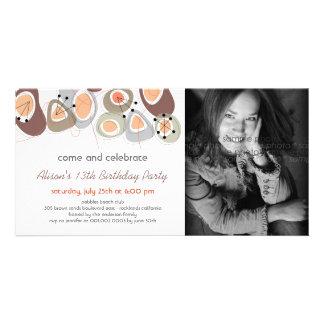 fatfatin Retro Pebbles Birthday Photo Invite Photo Card