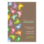fatfatin Retro Rainbow Chicks Pattern Profile Card Business Cards