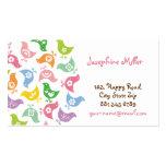 fatfatin Retro Rainbow Chicks Pattern Profile Card Business Card