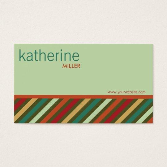 fatfatin Retro Stripes Pattern Profile Card