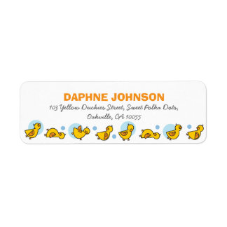 fatfatin Silly Duckies Blue Baby Shower Labels