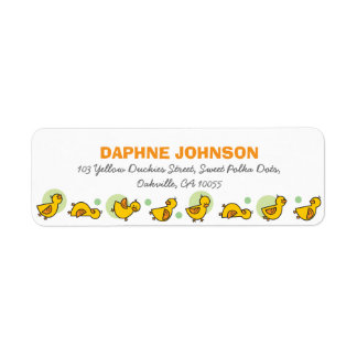 fatfatin Silly Duckies Green Baby Shower Labels