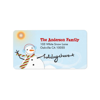fatfatin Snowman Cheers Holiday Labels