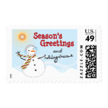 fatfatin Snowman Cheers Holiday Postage