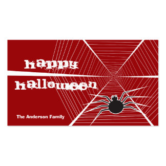 fatfatin Spider And Web Thank You Gift Tag Double-Sided Standard Business Cards (Pack Of 100)
