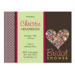 fatfatin Spring Flowers 2 Heart *01 Bridal Shower Post Cards