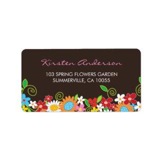 fatfatin Spring Flowers Garden Address Labels Address Label