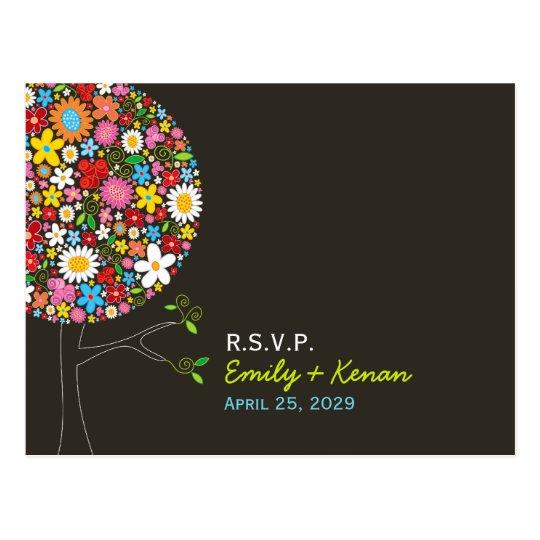 fatfatin Spring Flowers Pop Tree RSVP Postcard