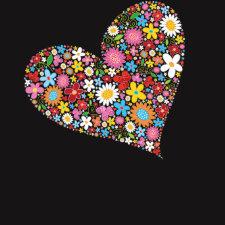fatfatin Spring Flowers Valentine Heart T-shirt shirt