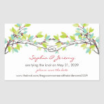 fatfatin Spring Knotted Love Trees Save The Date S Rectangular Sticker