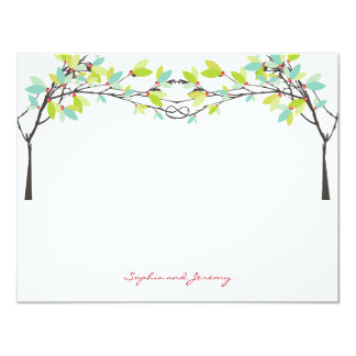 fatfatin Spring Knotted Love Trees Thank You Card