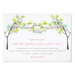 fatfatin Spring Knotted Love Trees Wedding Invite Personalized Invites