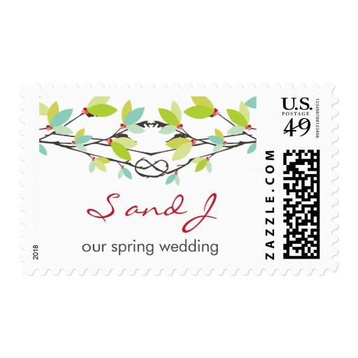 fatfatin Spring Knotted Love Trees Wedding Stamps