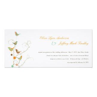 fatfatin Summer Birds And Swirls 2 Wedding Invite Custom Invites
