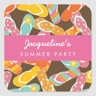 fatfatin Summer Flip Flops Party Sticker