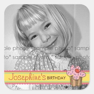 fatfatin Sweet Cherry Cupcake Birthday Sticker